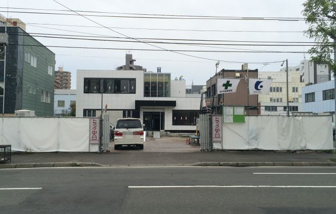 建設中の新・朝鮮総連北海道本部ビル 平成26年10月撮影
