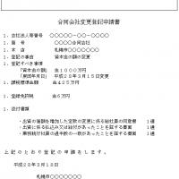 合同会社変更登記申請書